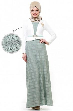 Bürün Elbise-Mint 8224-24