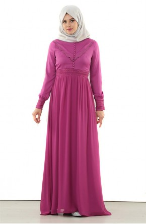 Doque Abiye Elbise-Vişne DO-A4-64013-87